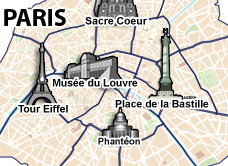 plan hotels Paris